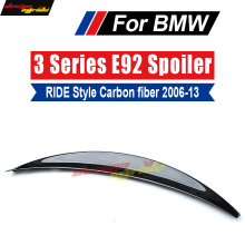E92 E93 Spoiler wing tail Ride-Style Carbon fiber For BMW 320i 323i 325i 328i 330i 335i Rear Wing Lip Car Styling 06-13