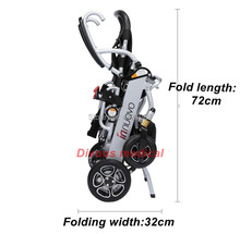 2019 High quality safety folding portable power electric wheelchair  N/W:19.8KG