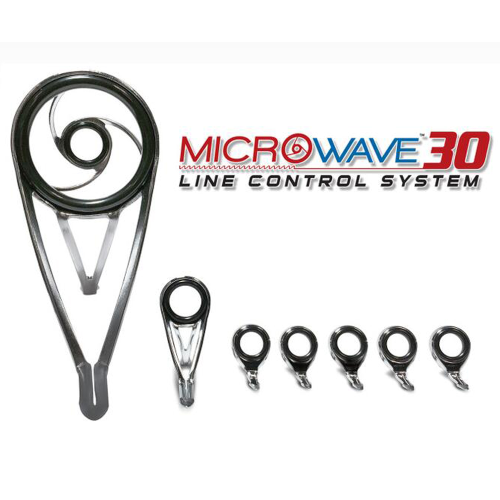 American Tackle Company MicroWave 30 10 Line Control System Surf Rod Carp Rod Guide Set DIY
