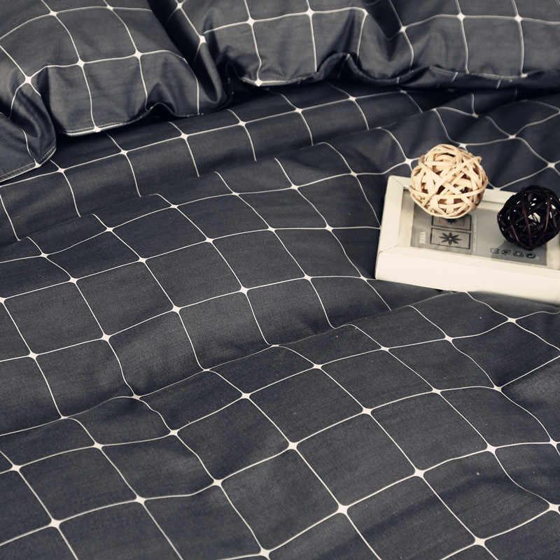 Простой серый черный плед узор полиэстер постельные принадлежности 1 шт. пододеяльник на молнии одеяло или одеяло чехол 4 размер 40