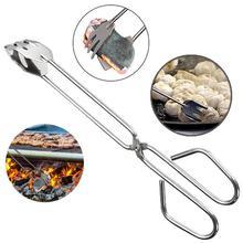 Новые удобные инструменты для барбекю из нержавеющей стали, ножницы типа гриль, аксессуары для барбекю, портативные щипцы, гаджет для использования на открытом воздухе