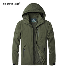 THE ARCTIC LIGHT Men Spring Trekking Coat Jacket Outdoor Sportswear Parka Overcoat Hiking Travel Mountain Climbing 4XL 5XL