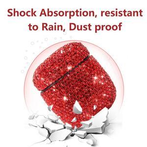Image 4 - Caso Fones De Ouvido Bluetooth Inovador Fones de Strass Capa Shell protetora Dust proof Impermeável Saco De Luxo Para A Apple Airpods