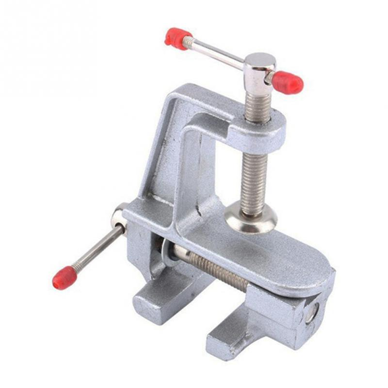 30mm Mini Aluminum Miniature Small Jewelers Hobby Clamp On Table Vise Tool Vice
