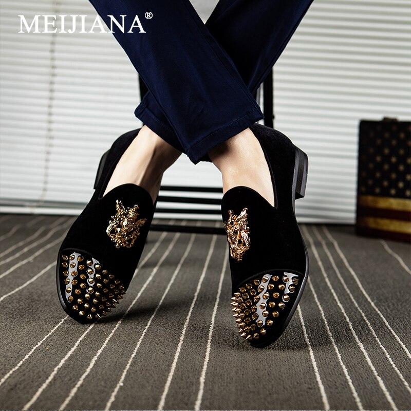 Respirant Non Foncé slip Confort bleu 2019 Meijiana Rouge Noir De vin Hommes Chaussures Dîner Royal kaki rouge Parti bleu 0nw8mN
