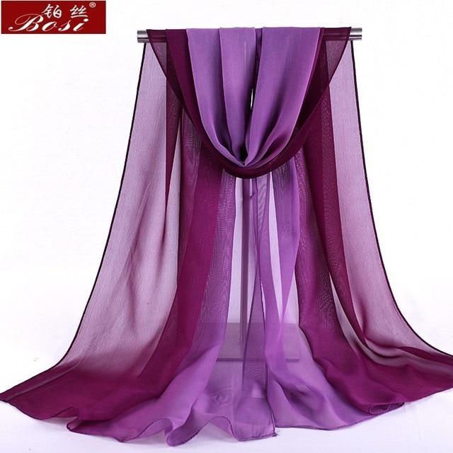 Chiffon scarf gradient women hijab winter brand autumn red long scarfs poncho luxury ladies scarves shawl sjaal long bohemian gg 2