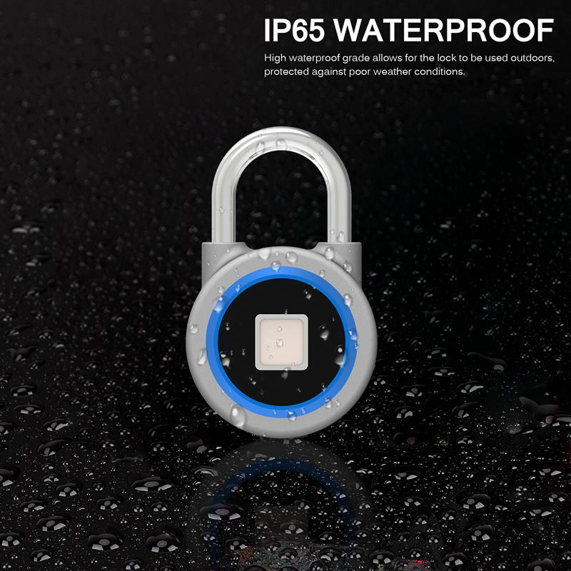 Creative Smart Padlock Electronic Lock Warehouse Door Dormitory Cabinet Bedroom Bluetooth Fingerprint Padlock Security Door Lock warehouse door gate 60mm metal security lock padlock lengthening lock w 4 pcs keys