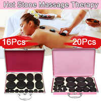 16Pcs/20Pcs Men Women Hot Stone Massage Rocks Professional Set Stone SPA Massage with Heating Box Set for Personal Care