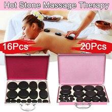16Pcs/20Pcs Men Women Hot Stone Massage Rocks Professional Set Stone SPA Massage with Heat