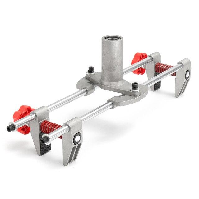 Nouveau 8 pièces Mortice porte raccord gabarit serrure mortaiseuse DBB clé JIG1 avec 3 coupeurs cas nouveau outil entretien ensemble