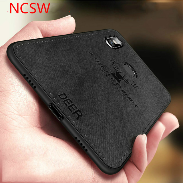 For Xiaomi Redmi Note 7 Case Cloth Distressed Hard Back Cover Soft Frame Fabric Fundas Redmi Note 4 4X 5 5A 6 pro Phone Cases