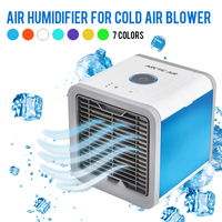 USB Mini Portable Air Conditioner Humidifier Purifier 7 Colors Light Desktop Air Cooling Fan cooler Fan For Office Home