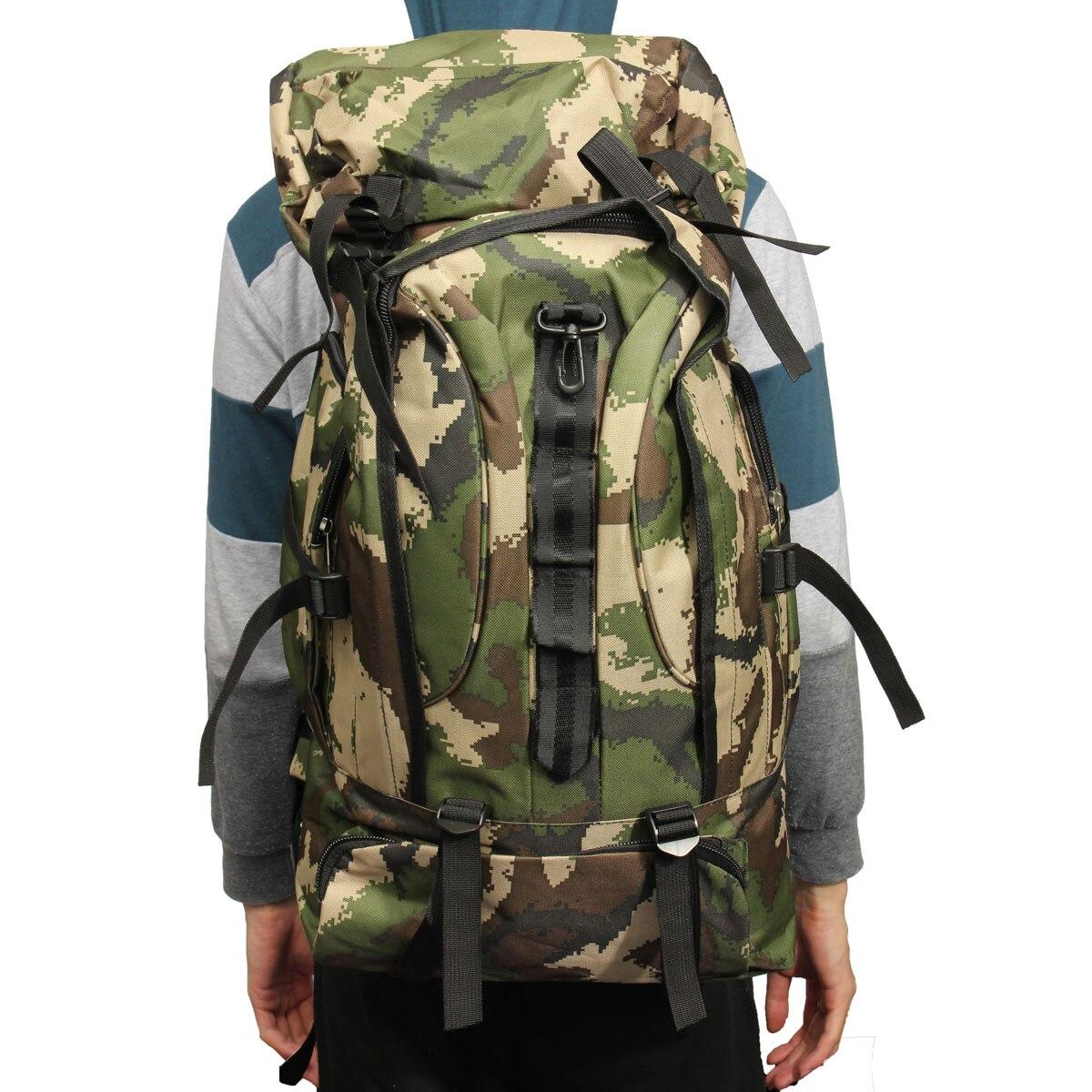 Offre spéciale 80L Nylon unisexe extérieur sac à dos militaire armée tactique sac à dos Trekking voyage Camouflage sac à dos escalade sacs