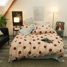 Bed Sheet Red Dot  Duvet Cover Simple Style Bedding Set With 2-4pcs Comforter Bedding Sets Pillow Case Bed Linings In King Size цены