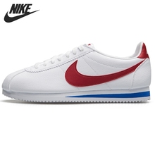 NIKE Classic Cortez Leather New Arrival Womens Sneakers Stability Footwear Mans Light Running Shoes Black and White 807471103
