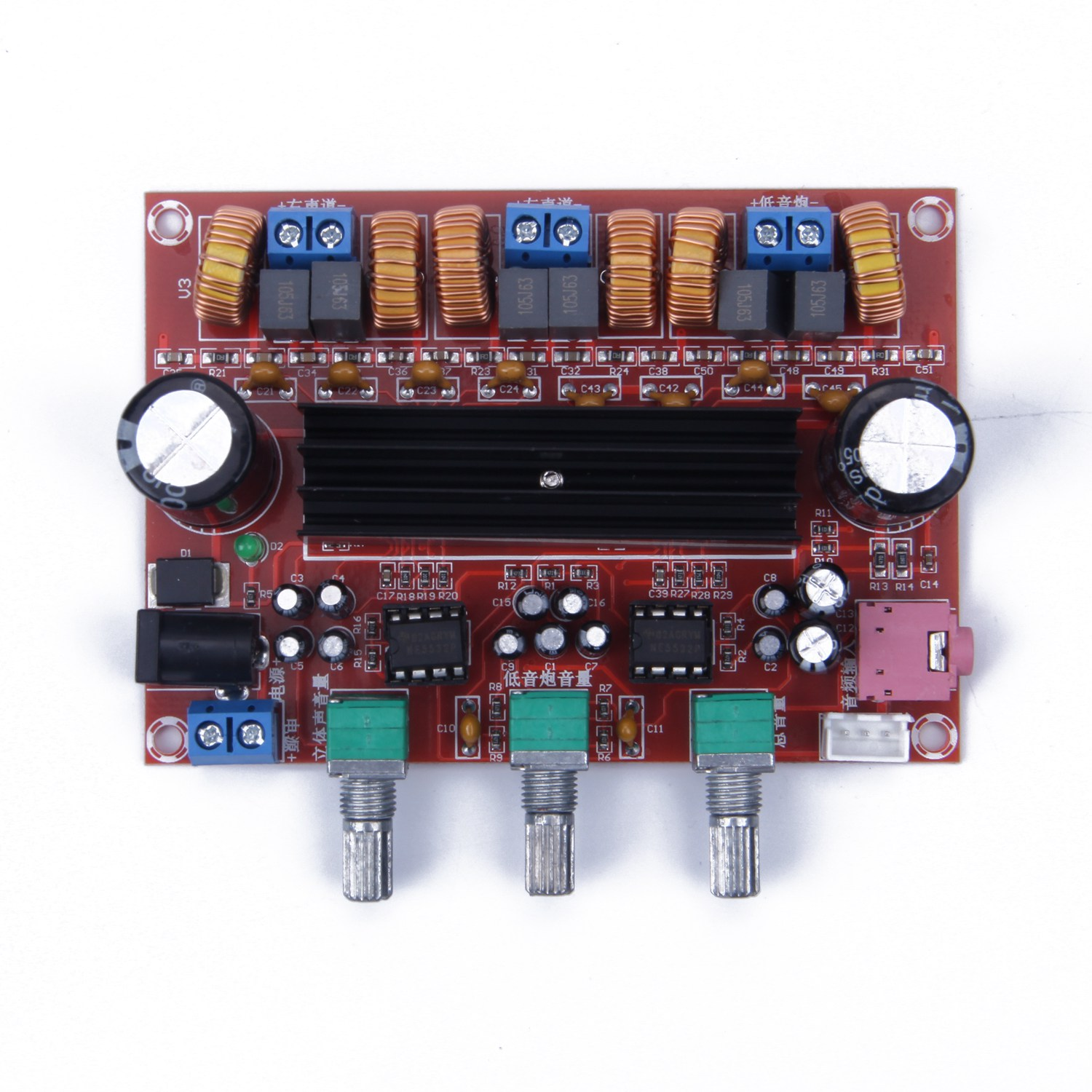 JABS <font><b>Amplifier</b></font> <font><b>Board</b></font> <font><b>TPA3116D2</b></font> <font><b>50Wx2</b></font>+<font><b>100W</b></font> <font><b>2.1</b></font> Channel Digital Subwoofer Power 12~24V image