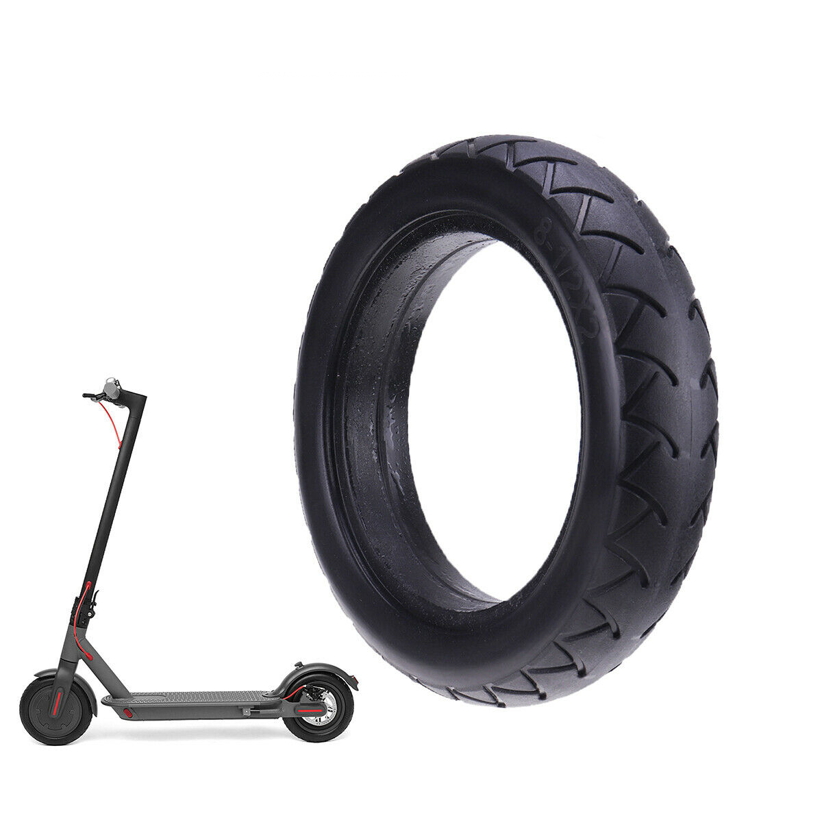 Tire Electric Scooter Thickening Solid Skateboard Tyre Wheels 8 1/2X2 Avoid Pneumatic Tyres Electric Bicycle Accessories Tires