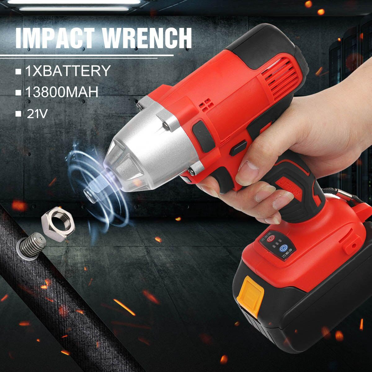 21V 13800mAh Rechargeable Lithium Battery 310Nm 128TV Cordless Drill Electric Drill Wrench Powerful Driver Household Car Tools21V 13800mAh Rechargeable Lithium Battery 310Nm 128TV Cordless Drill Electric Drill Wrench Powerful Driver Household Car Tools