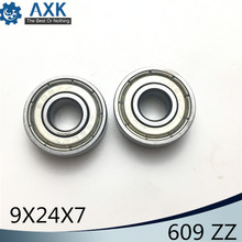 609ZZ Bearing 9x24x7 mm ( 10 PCS ) ABEC-5 Miniature 609 ZZ Ball Bearings 609 609 2Z Bearing стоимость