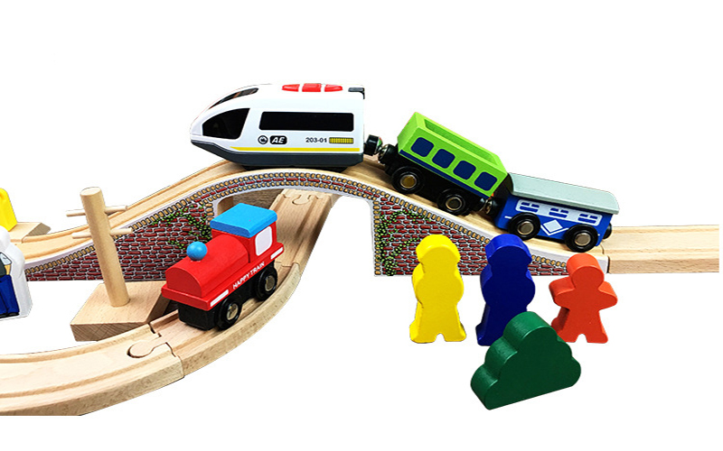 Wooden Railway Straight And Curved Expansion Track Take N Play Motorized Electric Train For Wooden Track Master Toys