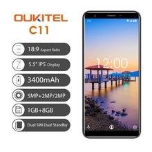 Oukitel C11 5,5 «18:9 Дисплей 1G Оперативная память 8G Встроенная память MTK6580A 4 ядра 3400 mah Батарея 5MP + 2MP/2MP Android 8,1 разблокировать смартфон
