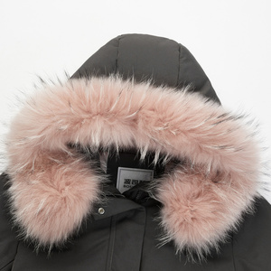 Image 5 - BOSIDENG חדש גדול אמיתי פרווה צווארון ברדס למטה מעיל ארוך עבה למטה מעיל נשי באיכות גבוהה אופנה parka B80141134