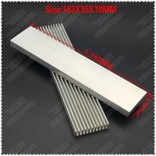 (Free shipping )2pcs 163x35x10mm Aluminum heatsinks, electronic radiator, cooling the aluminum block