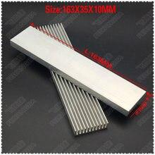 (Бесплатная доставка) 2 шт 163x35x10 мм алюминиевые радиаторы
