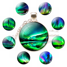 Handmade Jewelry Photo-Pendant Necklace Cabochon Fashion-Accessories Glass Round Natural