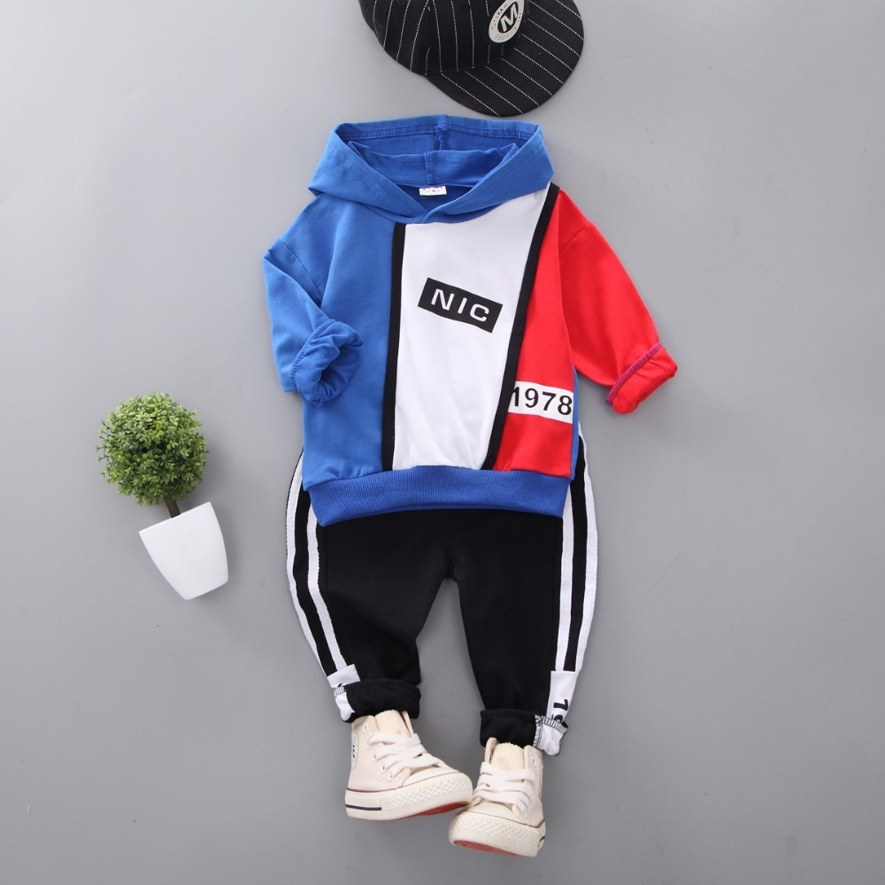 0-4 Years,SO-buts Newborn Toddler Kids Baby Boys Hooded Cartoon Bear Sweatshirt Tops Pullover Pants Outfits Autumn Tracksuit Set