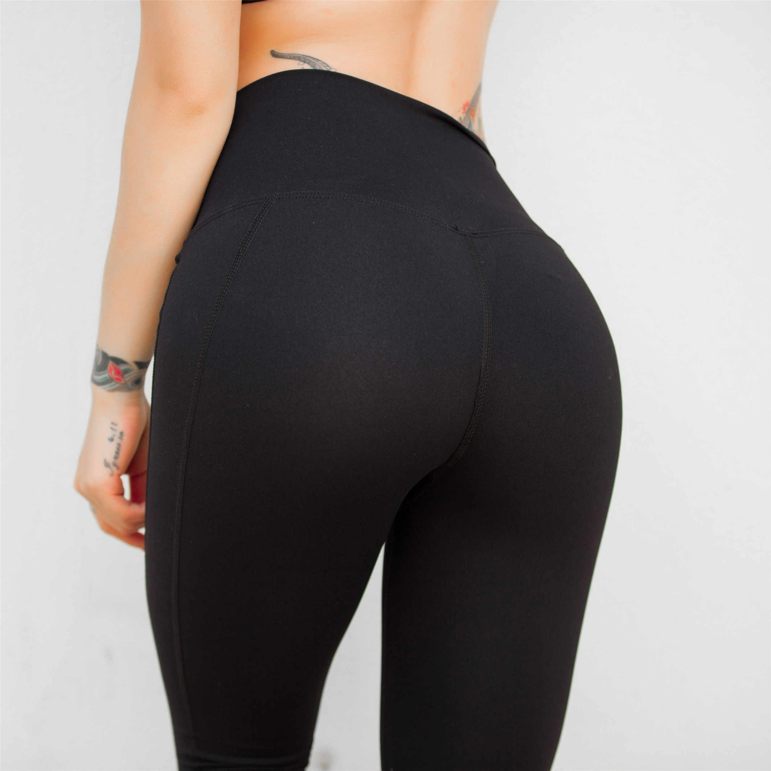f73f2d7a10f060 ... 2019 New High Waist Fitness legging yoga pant for Women Running workout  tight Nylon Spandex Jersey ...