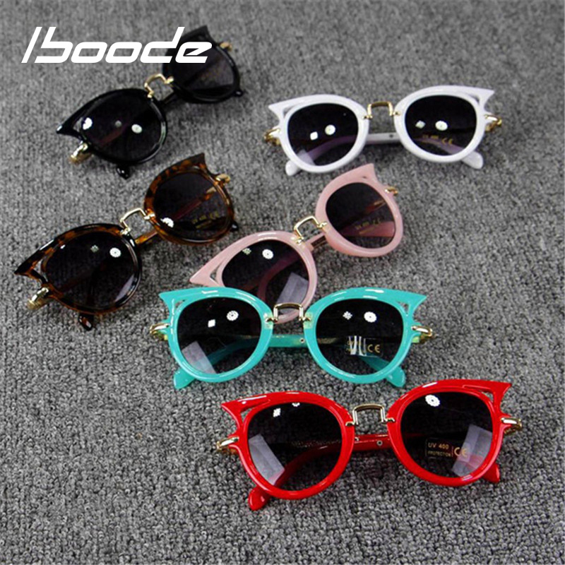 Girl's Glasses Analytical Iboode Kids Cat Eye Sunglasses Girls Brand Designer Vintage Retro Sun Glasses For Children Girl Cute Cateye Shades Eyewear Uv400 Superior Materials