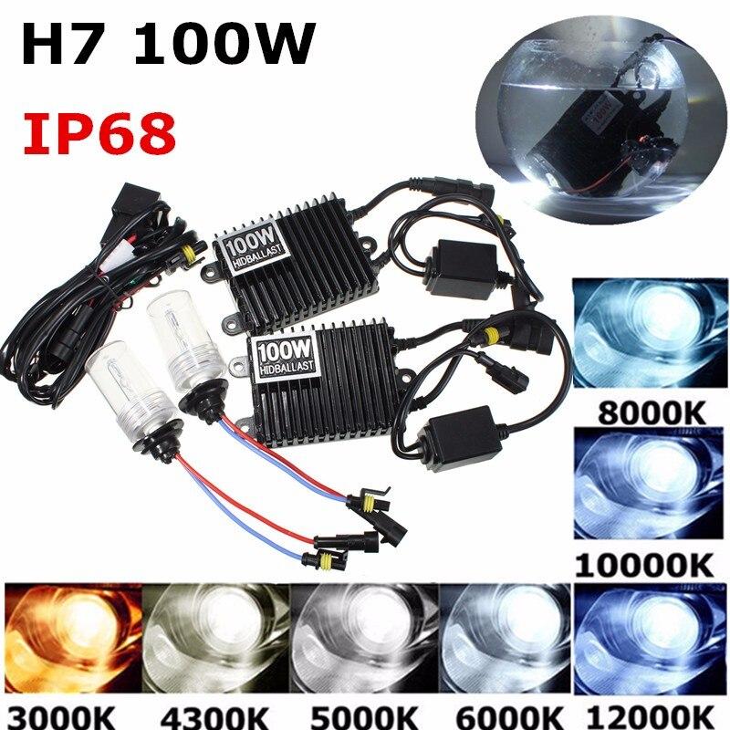 Nouveau 75 W/100 W pour HID KIT AC xénon Ballast H1 H3 H4 H7 H8/H9/H11 9005 9006 ampoules xénon lampe voiture phare auto lampe