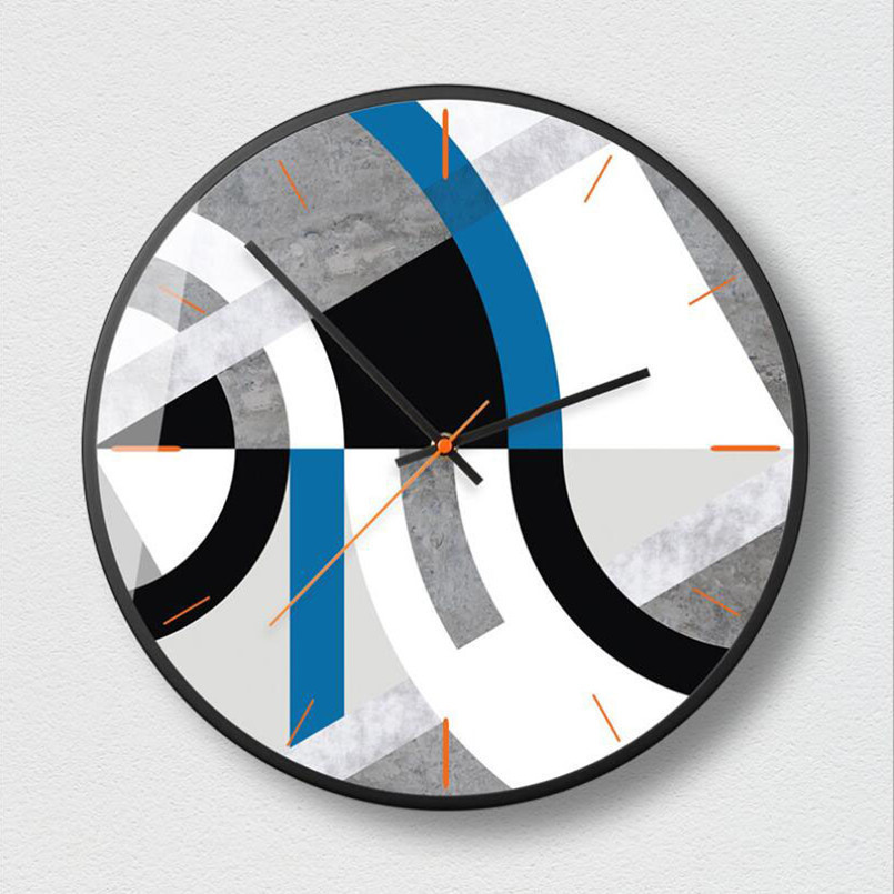 New Wall Clock 3D Silent Movement Modern Design Nordic Abstract Clocks Large Size Simple Home Decoration