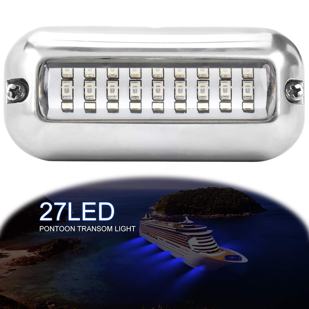 Reasonable 50w 27led Red/blue/green Boat Light Underwater Pontoon Marine Transom Light Ip68 Waterproof Stainless Steel Anchor Stern Lamp Boat Parts & Accessories Automobiles & Motorcycles