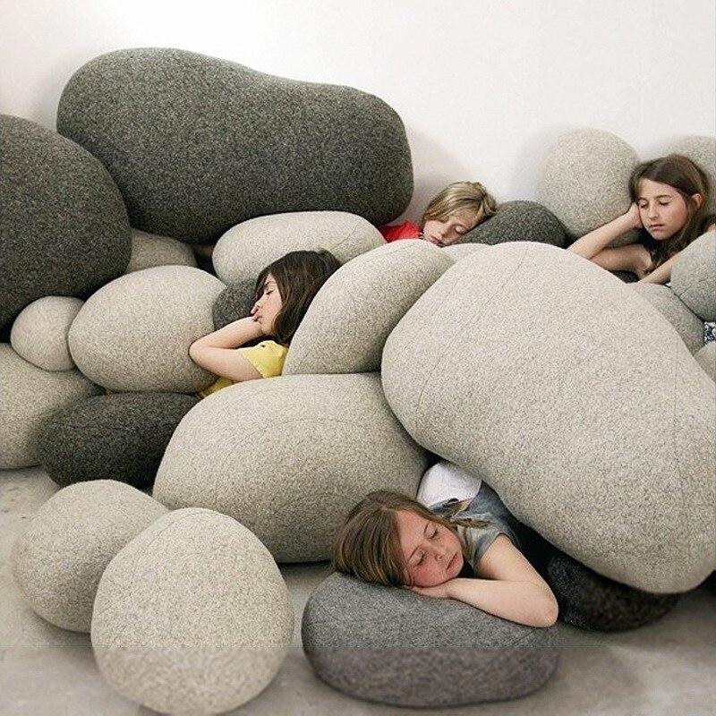 2019 Новая креативная 3d имитация каменной подушки, галька, подушка на заднюю панель, ленивый креативный домашний декор, забавная мягкая подушка