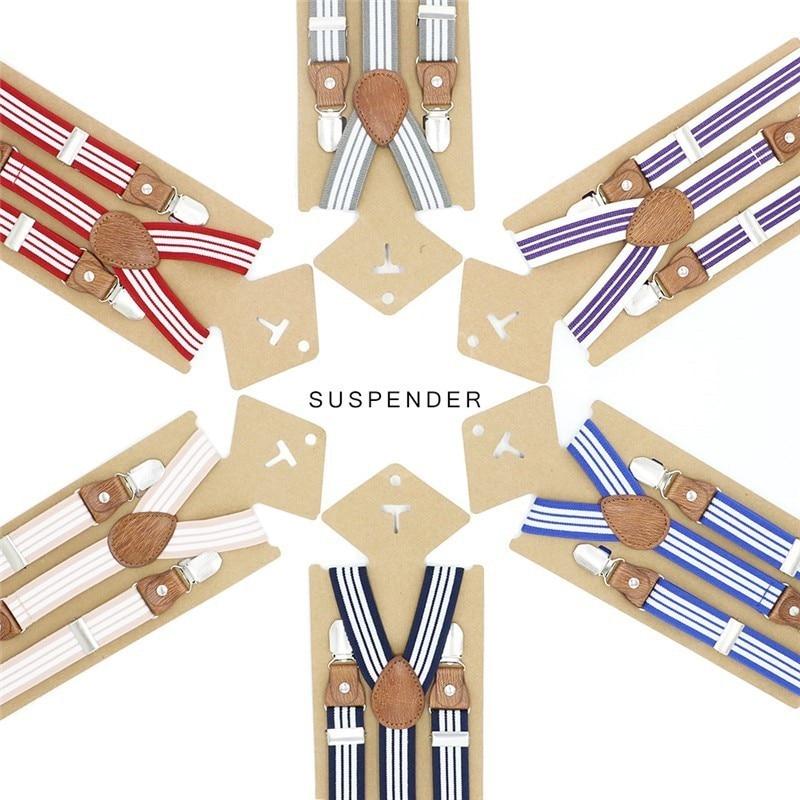 3 Clips Baby Braces Kids Suspenders Boy Ring Bear Wedding Girl Suspender Leather Strap Trouser Fashion Suspensorio Elastic Strap