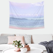 Nature Landscape Tapestry Wall Hanging Bohemian Psychedelic Tapestry Wall Cloth Hippie Forest Tree Ocean Carpet Shawl Picnic Mat turtle ocean fish wall tapestry