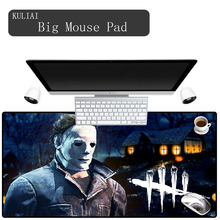Купить с кэшбэком KULIAI Dead By Daylight Player Mouse Pad Large Rubber Edge Control Pc Gamer Gaming Keyboard Office Decoration Desk Mouse Pads