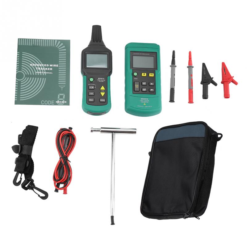 MS6818 12V 400V AC DC Wire Cable Locator Metal Pipe Detector Tester Line Tool