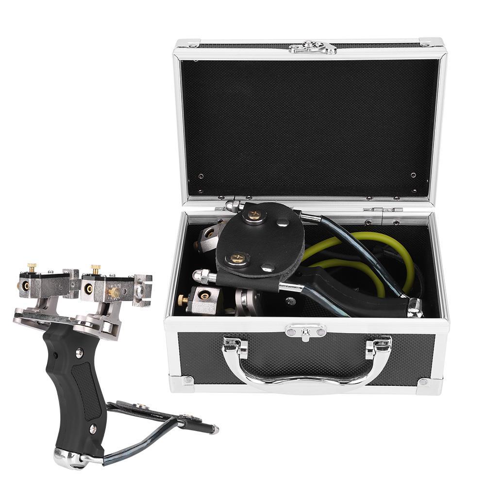 Laser Slingshot Hunting Fishing High Velocity Folding Steel Slingshot Infrared Catapult Wrist Brace Outdoor Powerful Slingshot
