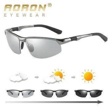 e636ec02df Gafas de sol polarizadas fotocromáticas HD AORON para hombre gafas de  camaleón para conducir de día
