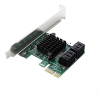 PCIe PCI Express to 6G SATA3.0 4-Port SATA III Expansion Controller Card Broad Adapter