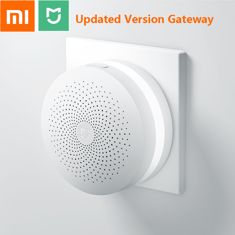 Updated Xiaomi Mijia Smart Home Multifunctional Gateway 2 Alarm System Intelligent WiFi Remote Control Online Night Light Bell