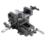 8 Inch Manual Cross Bench Vise With Slider Bar Vertical And Horizontal Way Table Slide For Mechanical Working Hand Tools