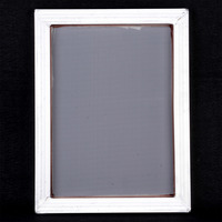 Aluminum Silk Screen Printing Frame Holder Tool with White 43T Polyester Fiber Mesh A3 Screen Printed Net Frame