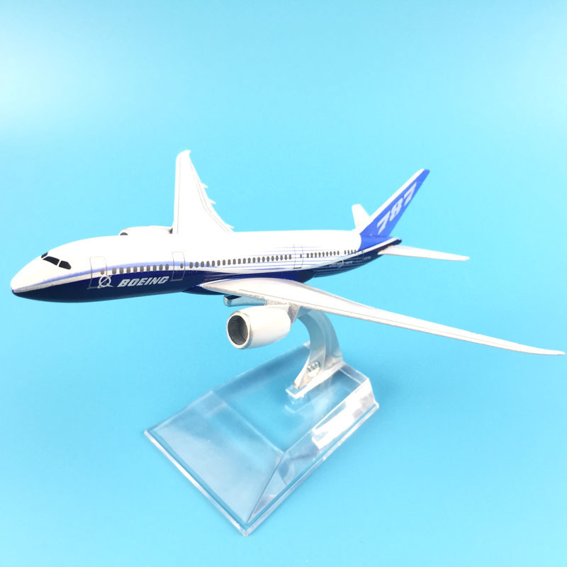 Plane Aircraft Model Diecast Metal Model Airplane 16cm 1:400 Boeing 787 Plane Aeroplane Model Toy Gift
