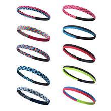 Sports Running Yoga Fitness Elastic Silicone Braid Headband Non-Slip Hair Band Sweatband For Soccer Basketball