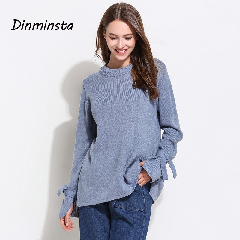 Vêtements Lady Flare wine Chaud blue Pull Mode Femmes De Long Bureau White Casual Dinminsta Femelle Pulls Manches pink Solide Red Base Printemps Streetwear 71wgqwxv5