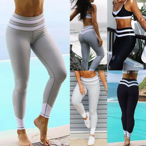 Women Tights Sport Wear Yoga Running Pants Gym Workout Fitness Clothes